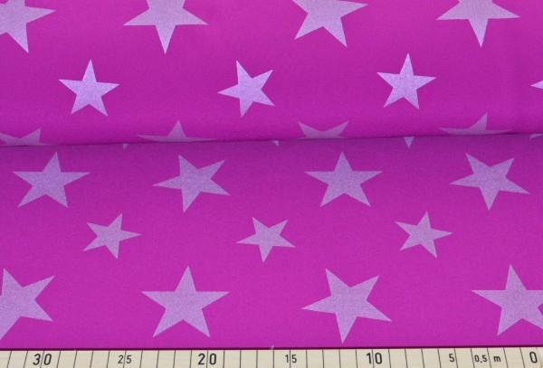 Softshell Reflex Sterne (magenta) - B816