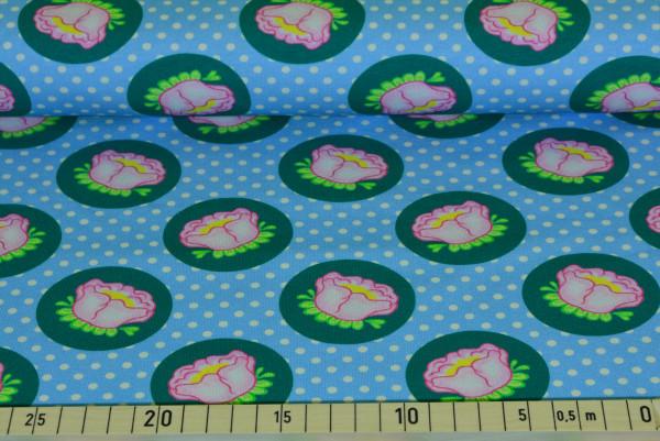Rosenblüten (blau) - B719