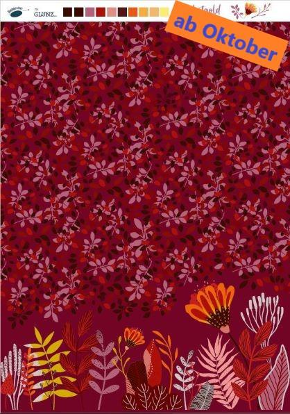 """Herbstgold (Blaubeerstern, Herbst, Blätter)"""" - H236"""