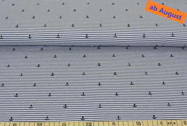 Anker + Streifen (Ringel, grau) - B1498