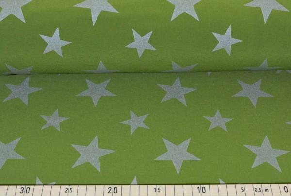 Softshell Reflex Sterne (grün) - B817