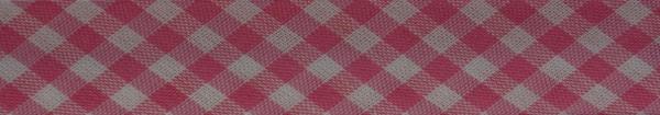 Schrägband (Karo rosa)