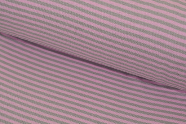 Bündchen Ringel (grau/rosa) - Z621