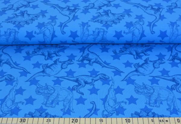 Dinosaurier + Sterne (blau) - B1244