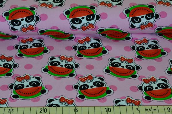 Panda Punkte (rosa) - B972