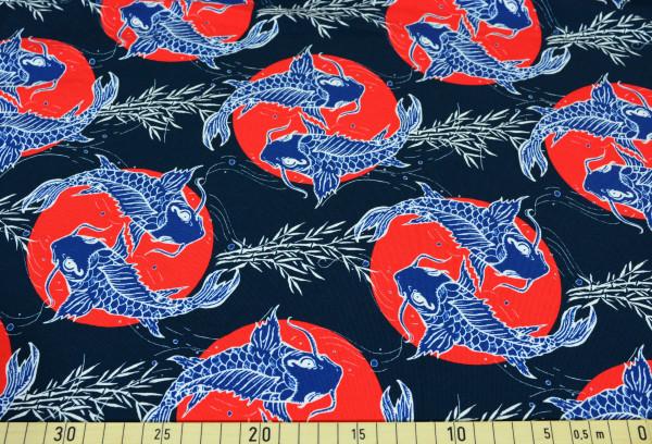 Koi (China, Fisch, maritim) - B1728 angeraut