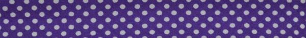 Schrägband (Tupfen lila)