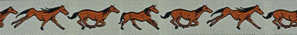 Webband (Pferd,braun)