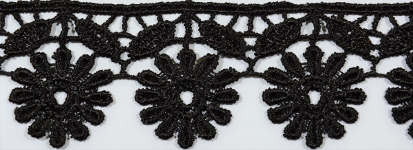 Spitze (schwarz, Blume)