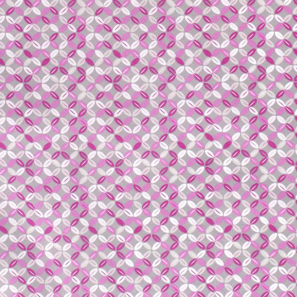 Magnolia - Z1352, Glünz GmbH, grau, rosa, pink, Blüten, Blumen, stilisiert