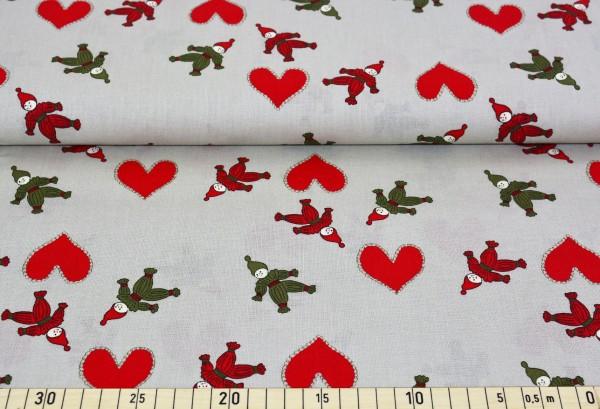 Weihnachtsmännchen (beige) - Z136 (Baumwolle)