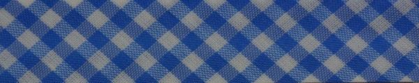 Schrägband (Karo hellblau)
