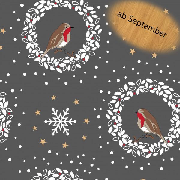Glünz GmbH, Christmas Piep, Z1279, weihnachten, Rotkehlchen, Robin, xmas, French terry
