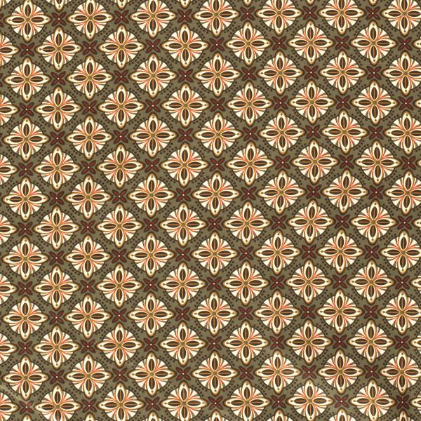 Raffaela Z1350, Glünz GmbH, Baumwolle, Blume, abstrakt, olive