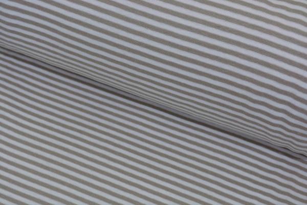 Bündchen Ringel (beige/weiß) - Z623