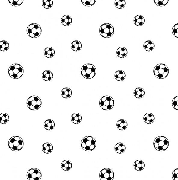 loving soccer (Ball, Fußball, weiß) - B1598