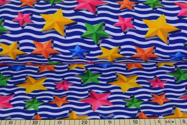 Welle mit 3D Sterne - B579