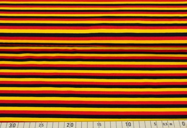 Streifen (schwarz,rot,gold) - B225