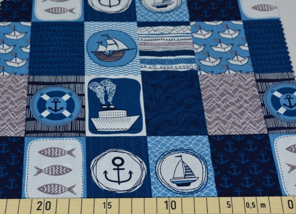 Maritim Patch (blau) - Z207