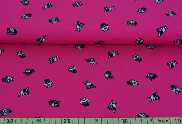 kleine Eulen (pink) - A122