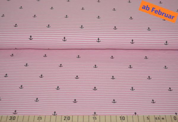Anker + Streifen (rosa) - B315