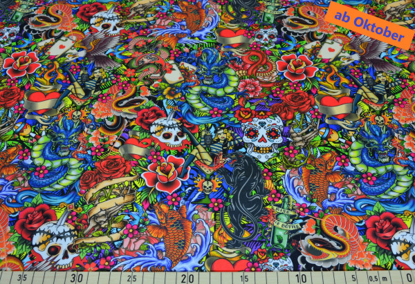 Eddy Black (Tiger, Drache, skull, Blume) - B1705