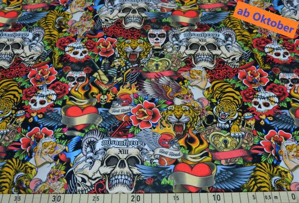 Eddy Black (Tiger, Drache, skull, Blume) - B1706