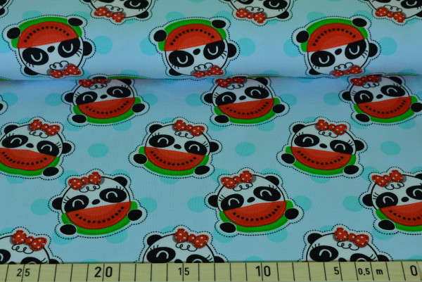 Panda Punkte (blau) - B973
