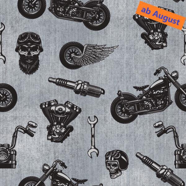 Christian (Totenkopf, Motorrad, Reifen) - B1699