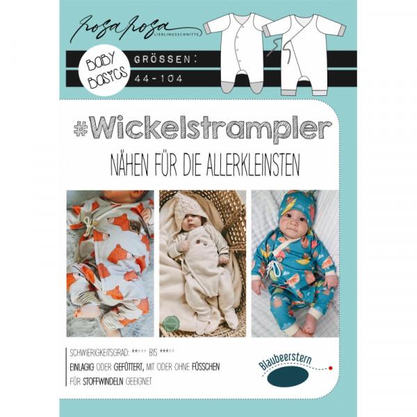 Wickelstrampler V37, Blaubeerstern, RosaRosa, Glünz GmbH
