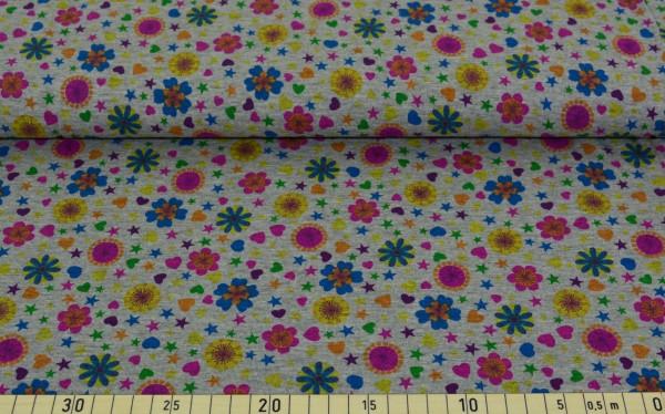 flowerlove (grau meliert) - Z154