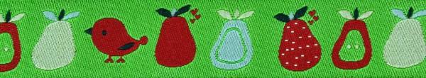 Webband (Vogel + Obst lemon)