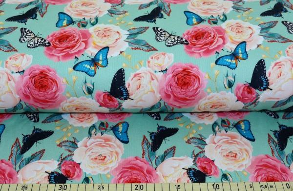 Schmetterling + Rose - B1203