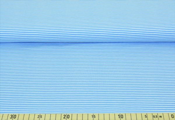 Anker + Streifen (Ringel, hellblau, Kombistoff) - B297
