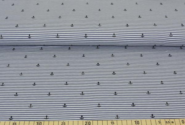 Anker + Streifen (grau) - B1498