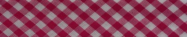 Schrägband (Karo pink)