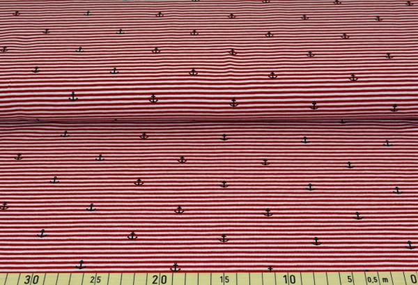 Anker + Streifen (Ringel, rot) - B317