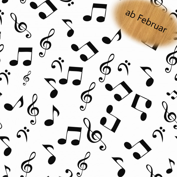 Notenschlüssel (Noten, Musik, Baumwolle) - B1696