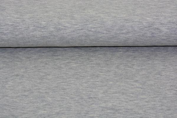 Baumwoll Jersey uni (hellgrau meliert) - 0220