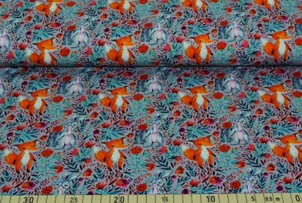 weißes Kaninchen und Fuchs (grau) - B604