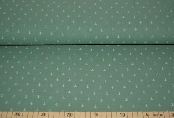Musselin Anker (grün) - B1389