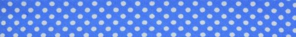 Schrägband (Tupfen blau)