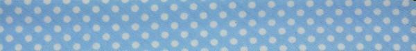 Schrägband (Tupfen hellblau)