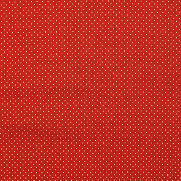 Sterne (Weihnachten, Punkte, Tupfen, Baumwolle) - Z805