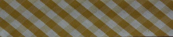 Schrägband (Karo beige)