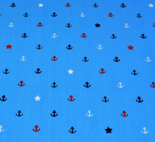Anker + Sterne (blau) - X001
