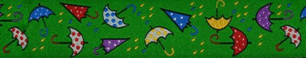 Webband (Regenschirm grün)