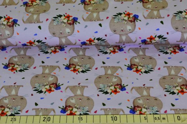 Katzen mit Kranz (flieder) - B1140
