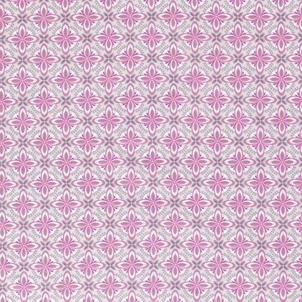Raffaela Z1350, Glünz GmbH, Baumwolle, Blume, abstrakt, grau, pink