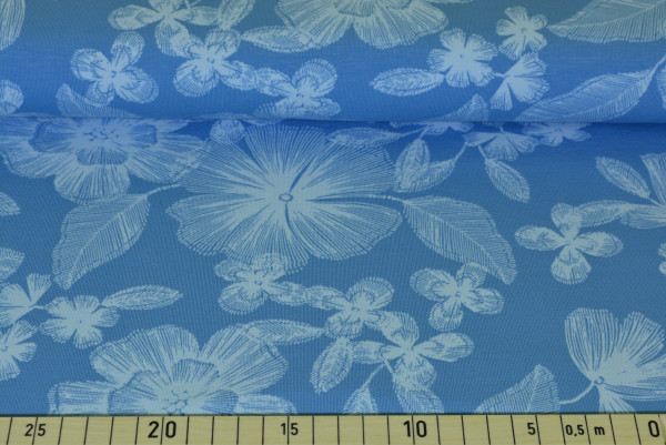 Pastell - Blüten (blau groß) - A429